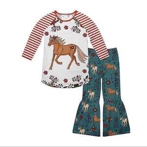 Boutique horse lovers cute pants set